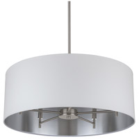 Lights UP 9050BN-QDT Walker LED 24 inch Brushed Nickel Chandelier Ceiling Light in Quilted Gold Duotrans