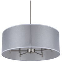 Lights UP 9050BN-SOR Walker 5 Light 5 inch Brushed Nickel Chandelier Ceiling Light in Silver Organza