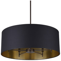Lights UP 9050OB-MBG Walker 5 Light 5 inch Oil Rubbed Bronze Chandelier Ceiling Light in Metallic Black & Gold