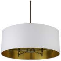 Lights UP 9050OB-MWG Walker 5 Light 5 inch Oil Rubbed Bronze Chandelier Ceiling Light in Metallic White & Gold