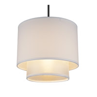 Doubles Deco LED 5 inch Brushed Nickel Pendant Ceiling Light in Silver Organza