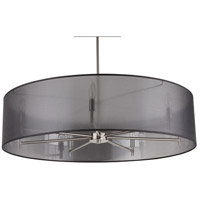 Lights UP 9070BN-BOR Walker LED 5 inch Brushed Nickel Chandelier Ceiling Light in Black Organza