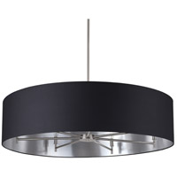 Walker LED 5 inch Brushed Nickel Chandelier Ceiling Light in Metallic Black & Silver