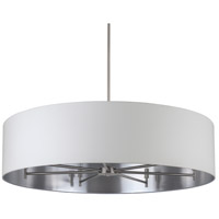 Walker LED 5 inch Brushed Nickel Chandelier Ceiling Light in Metallic White & Silver