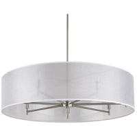 Lights UP 9070BN-SOR Walker LED 5 inch Brushed Nickel Chandelier Ceiling Light in Silver Organza