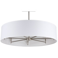 Lights UP 9070BN-WHT Walker LED 5 inch Brushed Nickel Chandelier Ceiling Light in White Linen