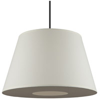 Lights UP 9120BN-NAT Reza Hom 1 Light 5 inch Brushed Nickel Pendant Ceiling Light in Natural Linen, Small