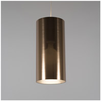 Meridian Long LED 5 inch Brushed Nickel Pendant Ceiling Light in Copper Duotrans