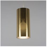 Lights UP 9201BN-GDT Meridian Long LED 5 inch Brushed Nickel Pendant Ceiling Light in Gold Duotrans