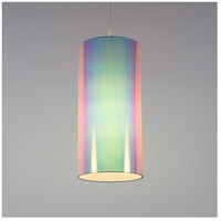 Meridian Long LED 5 inch Brushed Nickel Pendant Ceiling Light in Opal Duotrans