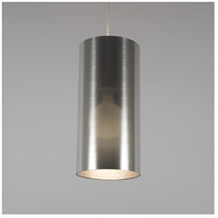 Meridian Long LED 5 inch Brushed Nickel Pendant Ceiling Light in Silver Duotrans