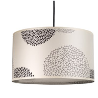 Lights UP 9203BN-BKM Meridian Medium LED 5 inch Brushed Nickel Pendant Ceiling Light in Black Mumm