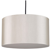 Lights UP 9203BN-PEB Meridian Medium LED 5 inch Brushed Nickel Pendant Ceiling Light in Pebble Silk Glow