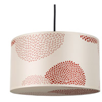 Lights UP 9203BN-RDM Meridian Medium LED 5 inch Brushed Nickel Pendant Ceiling Light in Red Mumm