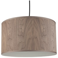 Lights UP 9203BN-WWD Meridian Medium LED 5 inch Brushed Nickel Pendant Ceiling Light in Walnut Veneer