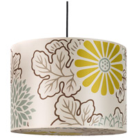 Lights UP 9204BN-KIM Meridian Large LED 5 inch Brushed Nickel Pendant Ceiling Light in Kimono