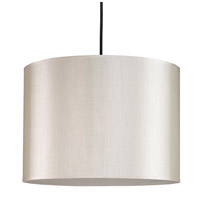 Lights UP 9204BN-PEB Meridian Large LED 5 inch Brushed Nickel Pendant Ceiling Light in Pebble Silk Glow