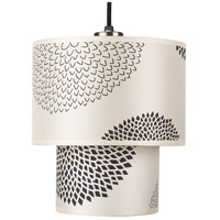 Lights UP 9205BN-BKM Deco 1 Light 5 inch Brushed Nickel Pendant Ceiling Light in Black Mumm Small