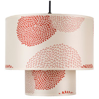 Lights UP 9207BN-RDM Deco LED 5 inch Brushed Nickel Pendant Ceiling Light in Red Mumm