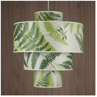 Lights UP 9208BN-FRN Deco Deluxe 1 Light 5 inch Brushed Nickel Pendant Ceiling Light in Green Fern