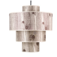 Lights UP 9208BN-FBL Deco Deluxe 1 Light 5 inch Brushed Nickel Pendant Ceiling Light in Faux Bois Light
