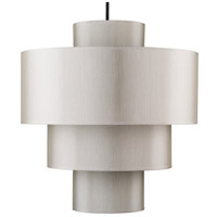 Lights UP 9208BN-PEB Deco Deluxe LED 5 inch Brushed Nickel Pendant Ceiling Light in Pebble Silk Glow