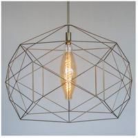 Lights UP 9255GD-XXX Geo 1 Light Powder Coated Gold Pendant Ceiling Light