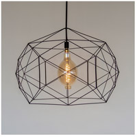 Lights UP 9255PB-XXX Geo 1 Light Powder Coated Black Pendant Ceiling Light