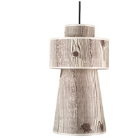 Lights UP 9309BN-FBL Lucy 1 Light 5 inch Brushed Nickel Pendant Ceiling Light in Faux Bois Light