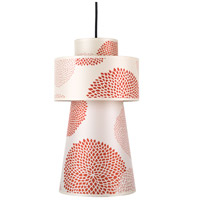 Lights UP 9309BN-RDM Lucy 1 Light 5 inch Brushed Nickel Pendant Ceiling Light in Red Mumm