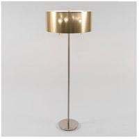 Lights UP 930BN-GDT Walker 68 inch 60 watt Brushed Nickel Floor Lamp Portable Light in Gold Duotrans