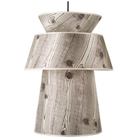 Lights UP 9316BN-FBL Louie 1 Light 5 inch Brushed Nickel Pendant Ceiling Light in Faux Bois Light