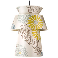 Lights UP 9316BN-KIM Louie LED 5 inch Brushed Nickel Pendant Ceiling Light in Kimono