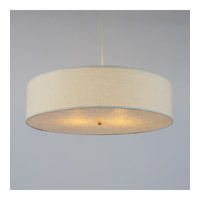 Lights Up Signature 2 Light Pendant in Mica with Ivory Ipanema Shade 9324MI-IVY