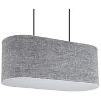 Lights UP 9420BN-PEN Blip 2 Light 12 inch Brushed Nickel Pendant Ceiling Light in Penguin Tweed, Long