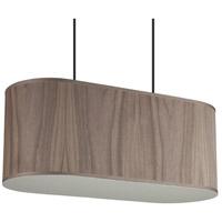 Lights UP 9420BN-WWD Blip 2 Light 12 inch Brushed Nickel Pendant Ceiling Light in Walnut Veneer, Long