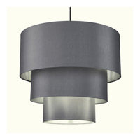 Lights Up Signature 4 Light Pendant in Brushed Nickel with Platinum Silk Glow Shade 9424BN-PLA