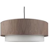 Lights UP 9440BN-WWD Woody Slim LED 5 inch Brushed Nickel Pendant Ceiling Light in Walnut Veneer