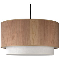 Lights UP 9444BN-CWD Woody LED 5 inch Brushed Nickel Pendant Ceiling Light in Cherry Veneer