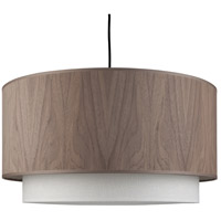 Lights UP 9444BN-WWD Woody LED 5 inch Brushed Nickel Pendant Ceiling Light in Walnut Veneer