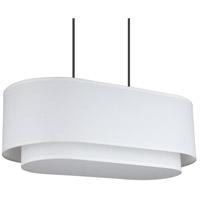 Lights UP 9524BN-WHT/WHT Blip 4 Light Brushed Nickel Pendant Ceiling Light Long