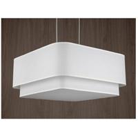 Lights UP 9525BN-WHT Blip Double 24 LED 12 inch Brushed Nickel Pendant Ceiling Light in White Linen