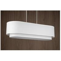 Lights UP 9534BN-WHT/WHT Blip 4 Light Brushed Nickel Pendant Ceiling Light Long