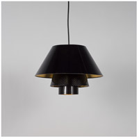 Lights Up Signature 1 Light Pendant in Brushed Nickel with Quilted Gold Duotrans Shade 9603BN-QDT