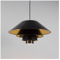 Lights UP 9604BN-QDT Signature LED 5 inch Brushed Nickel Pendant Ceiling Light in Quilted Gold Duotrans