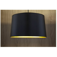 Lights UP 9703BN-MBG Weegee 2 Light 5 inch Brushed Nickel Pendant Ceiling Light in Metallic Black & Gold