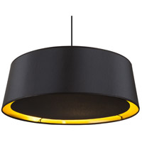 Lights UP 9705BN-MBG Weegee 2 Light 24 inch Brushed Nickel Pendant Ceiling Light in Metallic Black & Gold, Slim