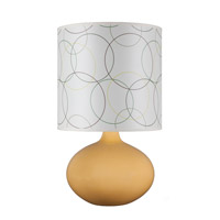 Lights UP American Ceramic Pops 1 Light Table Lamp in Fiesta Glaze with Circles Shade AC-503FI-CIR