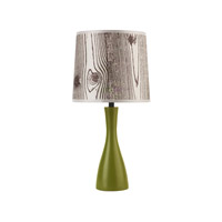 Lights UP Oscar 1 Light Boudoir Table Lamp in Grass with Faux Bois Light Shade 260GR-FBL