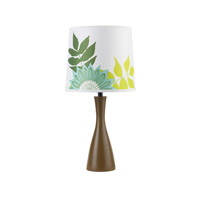 Lights UP Oscar 1 Light Boudoir Table Lamp in Olive with Anna Green Shade 260OL-ANG